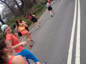 me running the More Fitness Half in Central Park